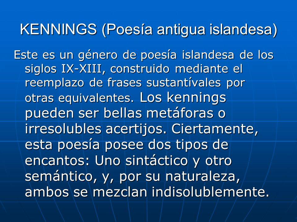 KENNINGS (Poesía antigua islandesa)