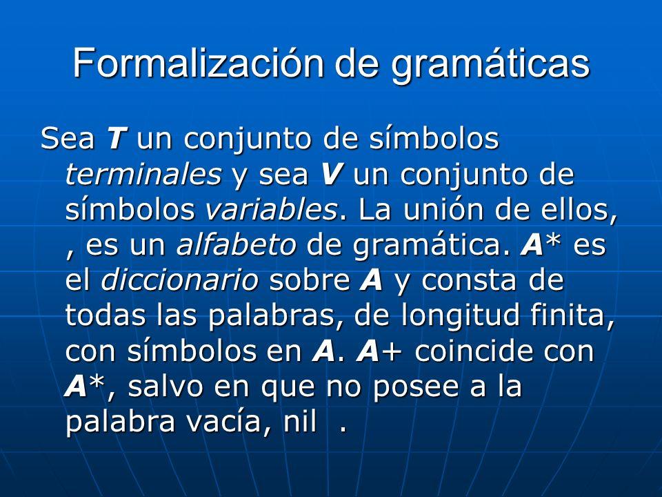 Formalización de gramáticas