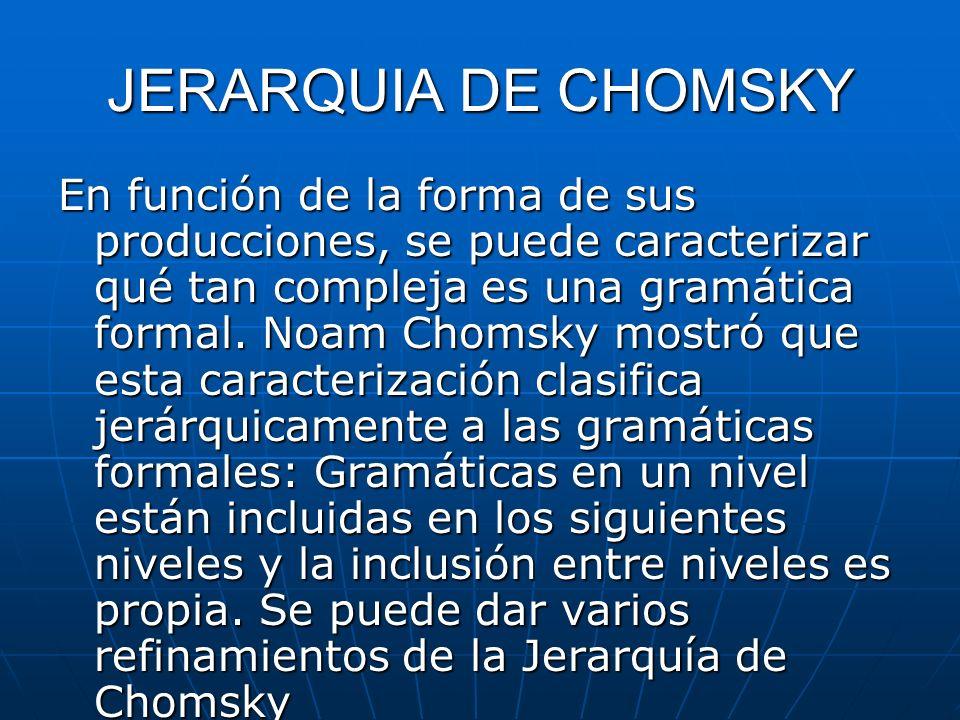 JERARQUIA DE CHOMSKY