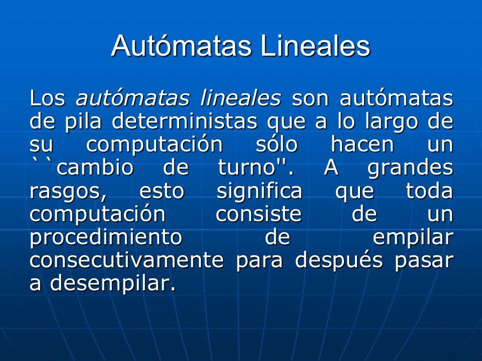 Autómatas Lineales