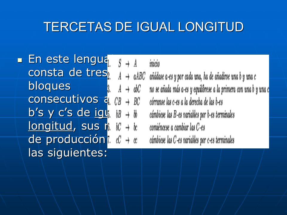 TERCETAS DE IGUAL LONGITUD