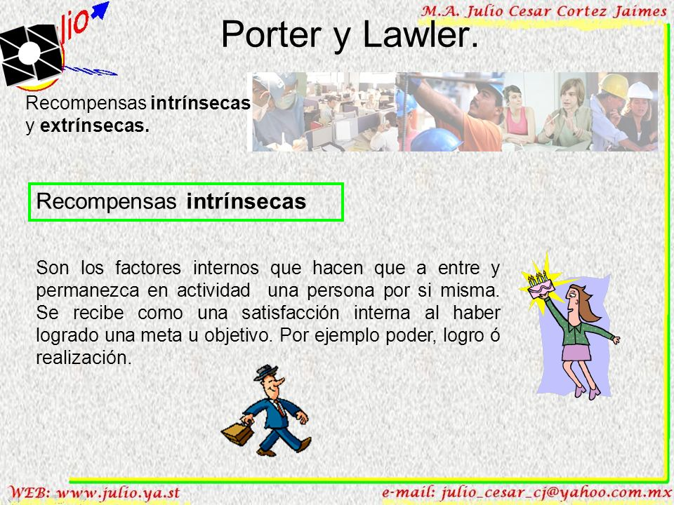 Porter y Lawler. Recompensas intrínsecas