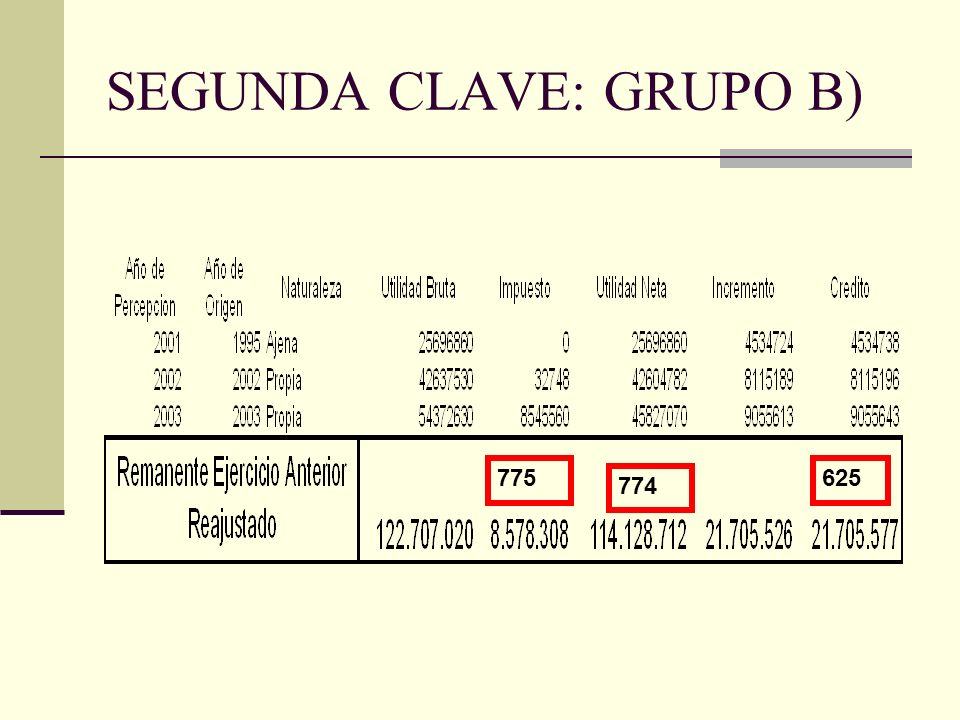 SEGUNDA CLAVE: GRUPO B)
