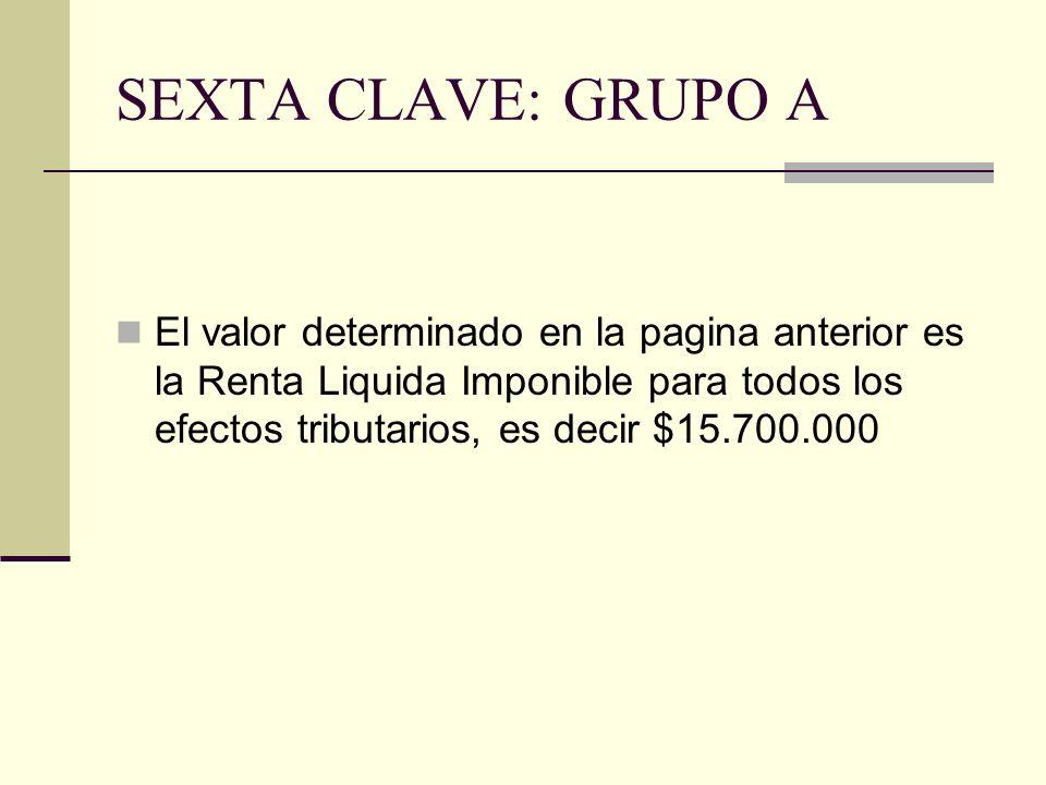 SEXTA CLAVE: GRUPO A