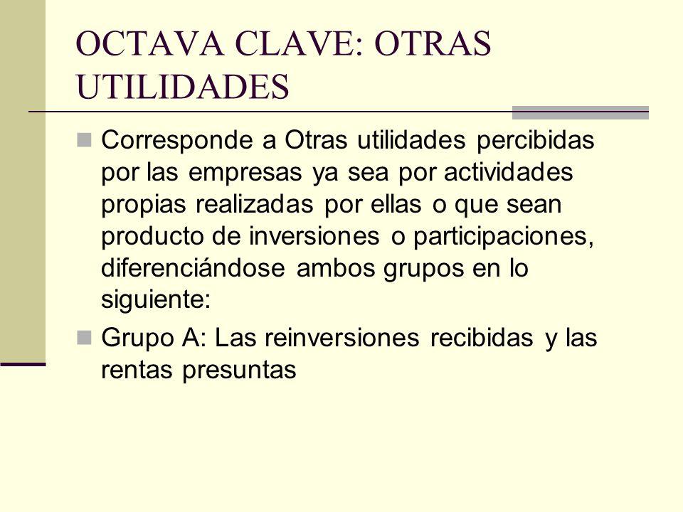 OCTAVA CLAVE: OTRAS UTILIDADES