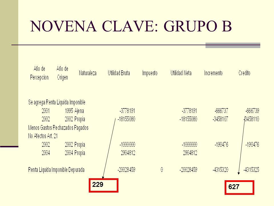 NOVENA CLAVE: GRUPO B 229 627