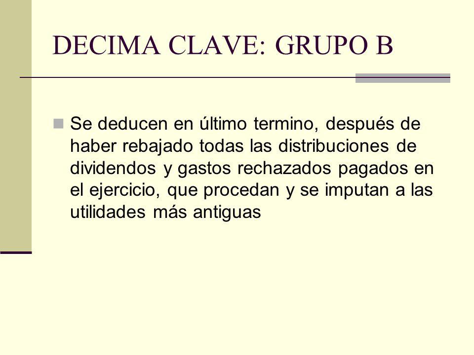 DECIMA CLAVE: GRUPO B