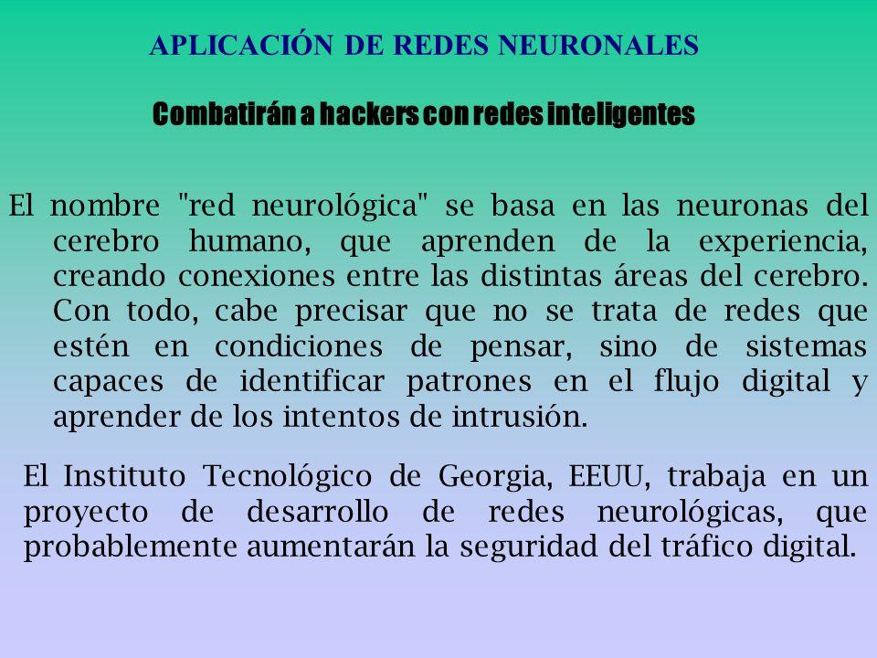 APLICACIÓN DE REDES NEURONALES
