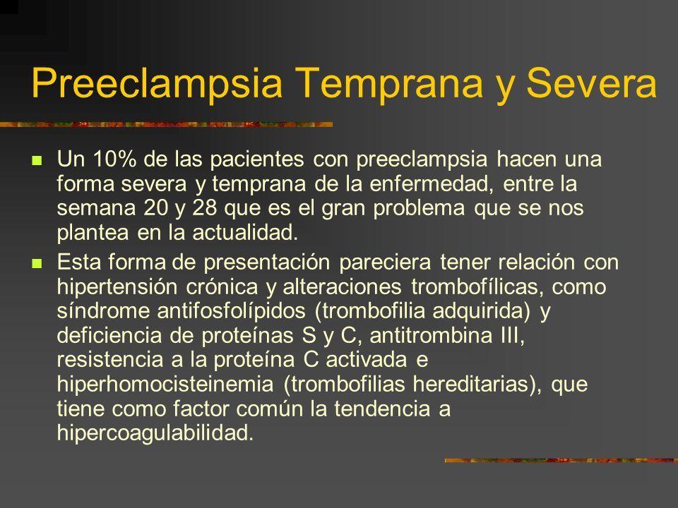 Preeclampsia Temprana y Severa