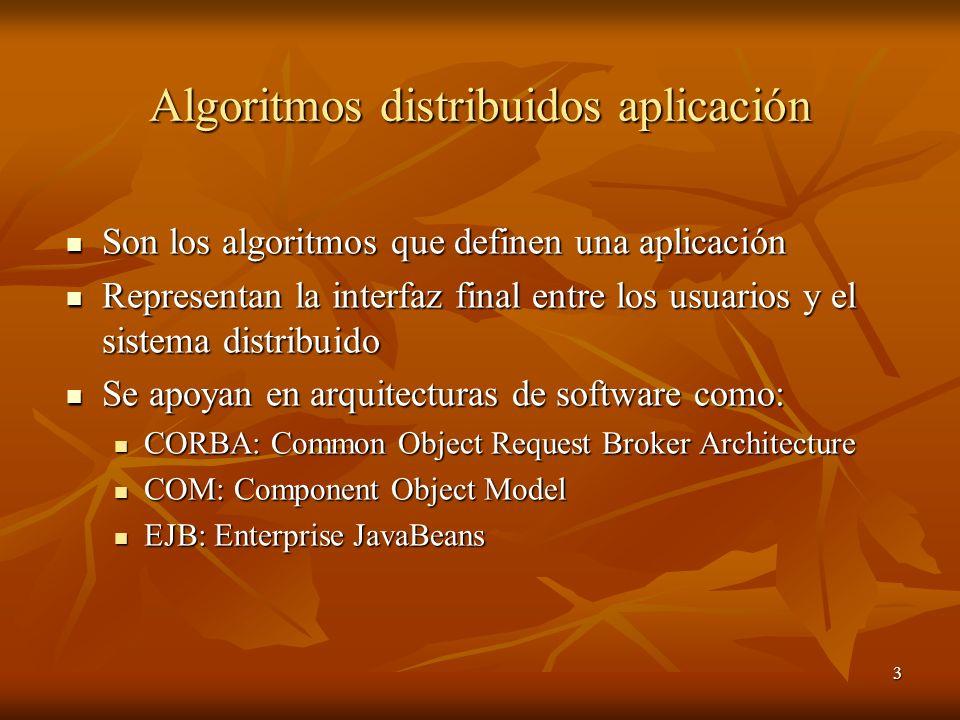 Algoritmos distribuidos aplicación