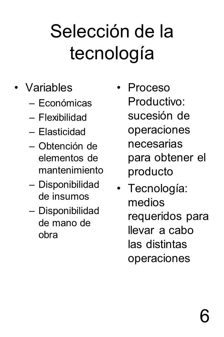 Selección de la tecnología