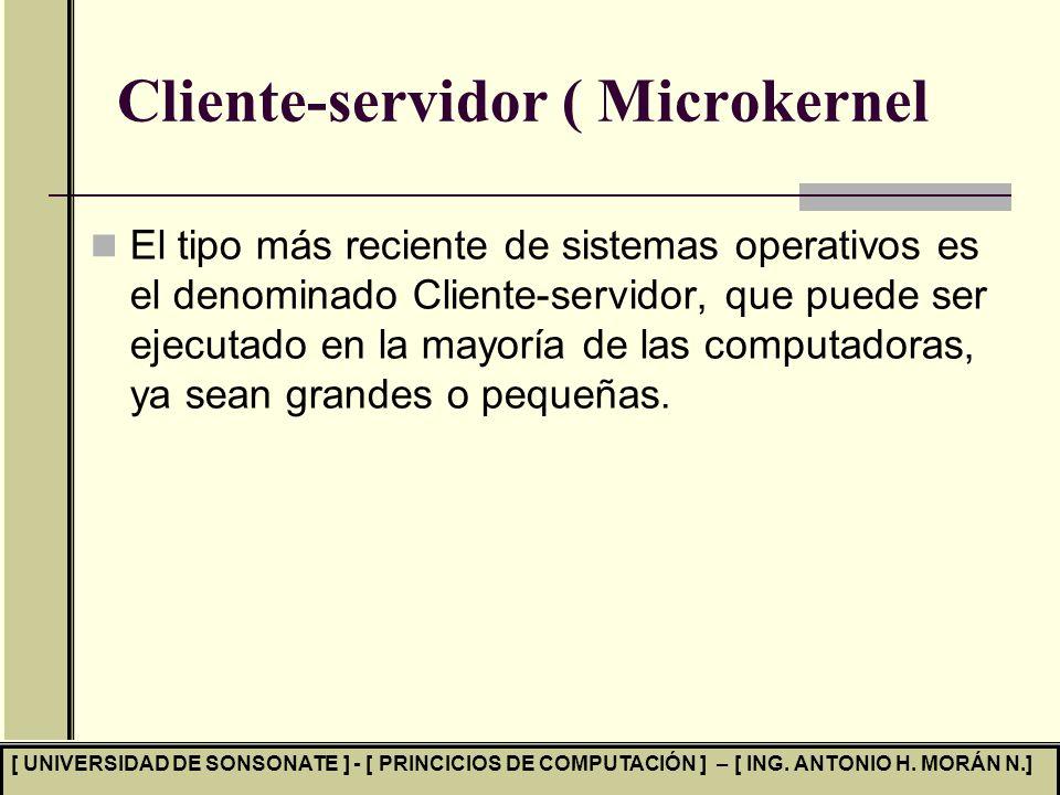 Cliente-servidor ( Microkernel