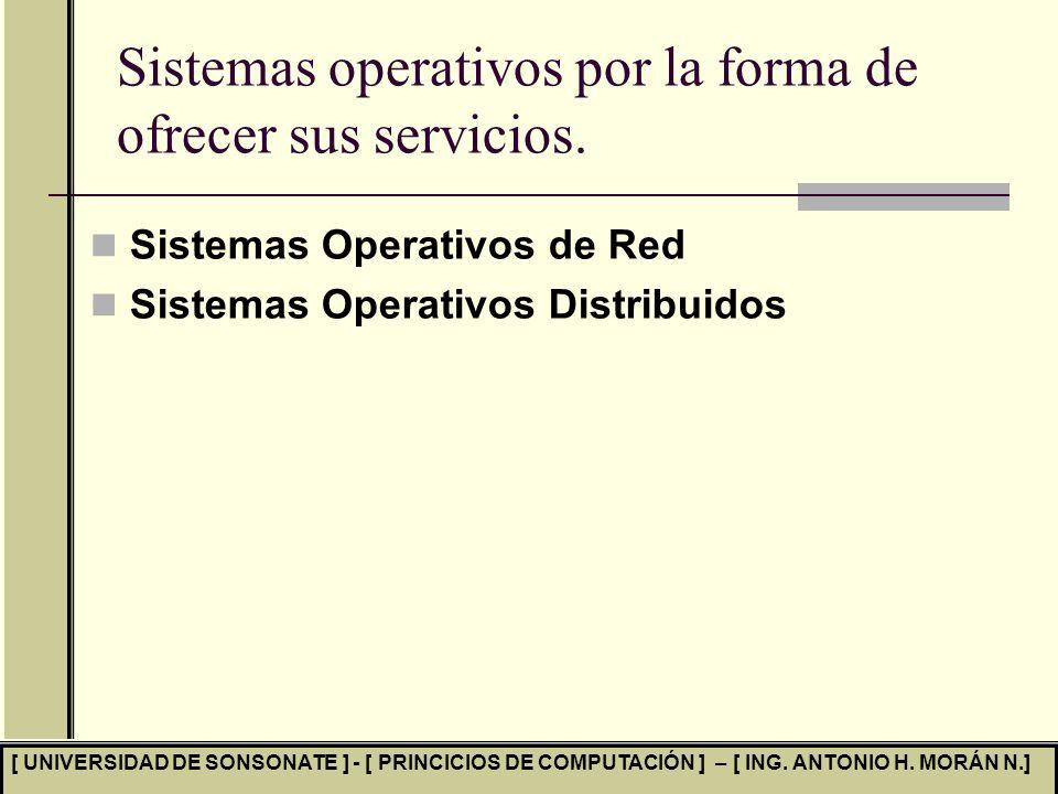 Sistemas operativos por la forma de ofrecer sus servicios.
