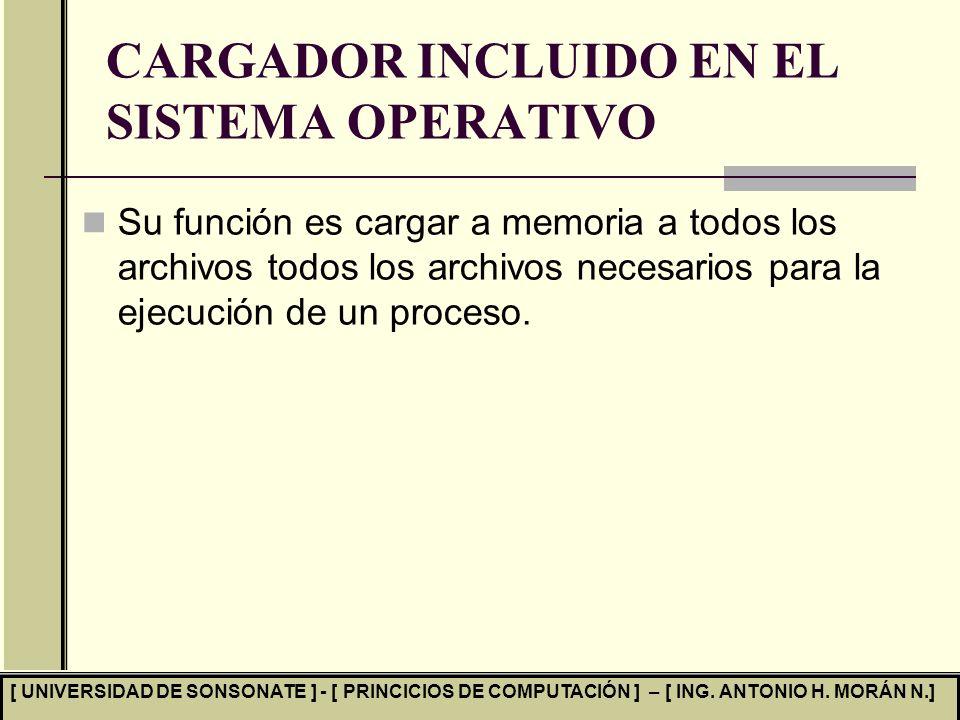 CARGADOR INCLUIDO EN EL SISTEMA OPERATIVO
