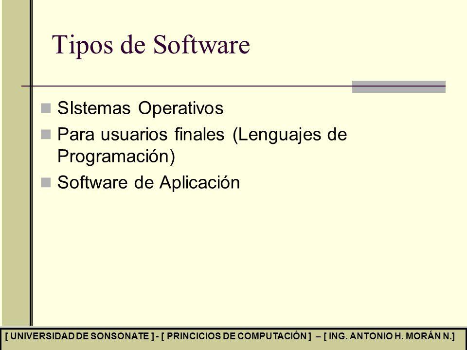 Tipos de Software SIstemas Operativos