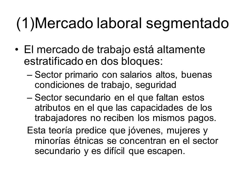(1)Mercado laboral segmentado