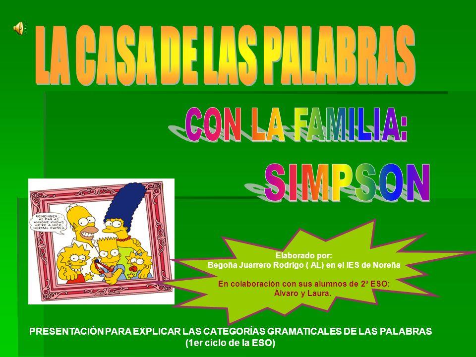 LA CASA DE LAS PALABRAS CON LA FAMILIA: SIMPSON