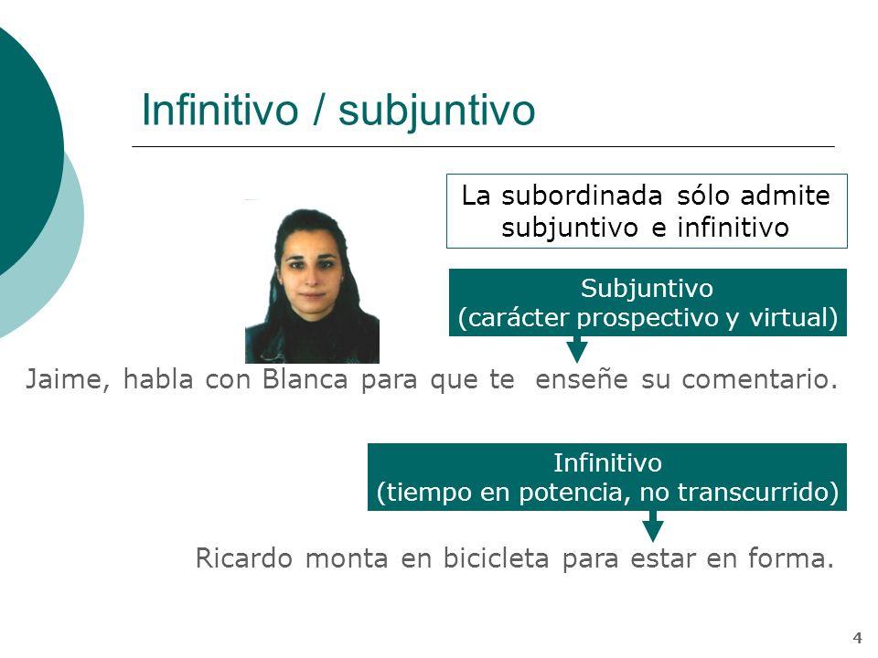 Infinitivo / subjuntivo