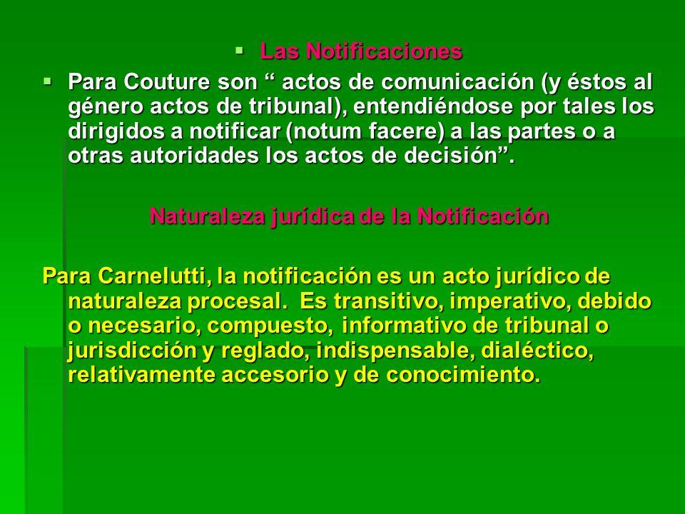 Naturaleza jurídica de la Notificación