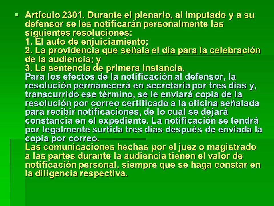 Artículo 2301.