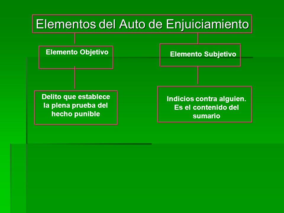 Elementos del Auto de Enjuiciamiento