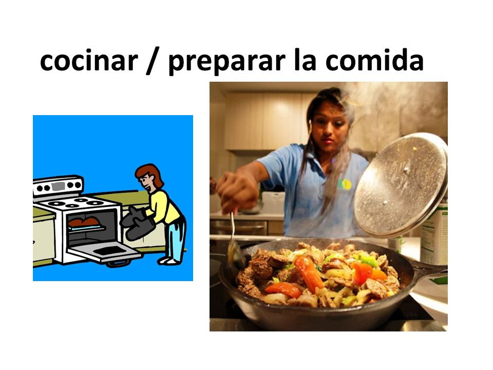 cocinar / preparar la comida