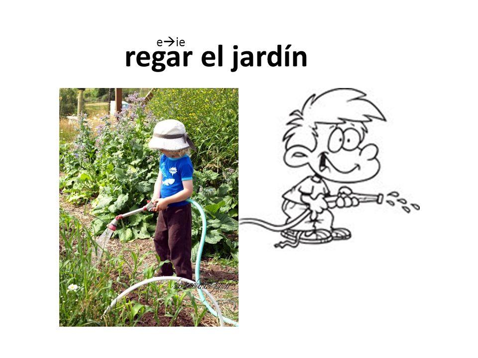 regar el jardín eie