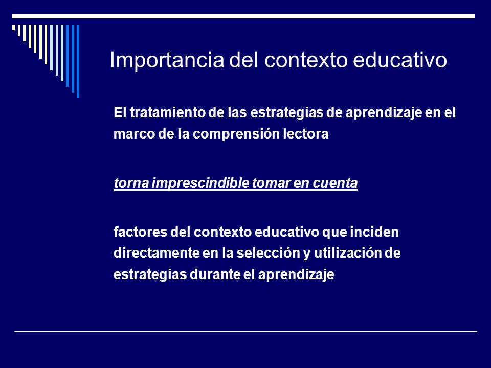 Importancia del contexto educativo