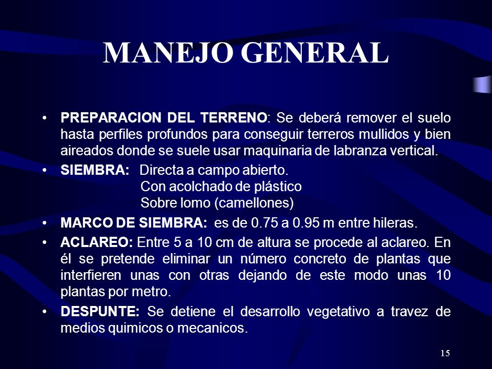 MANEJO GENERAL