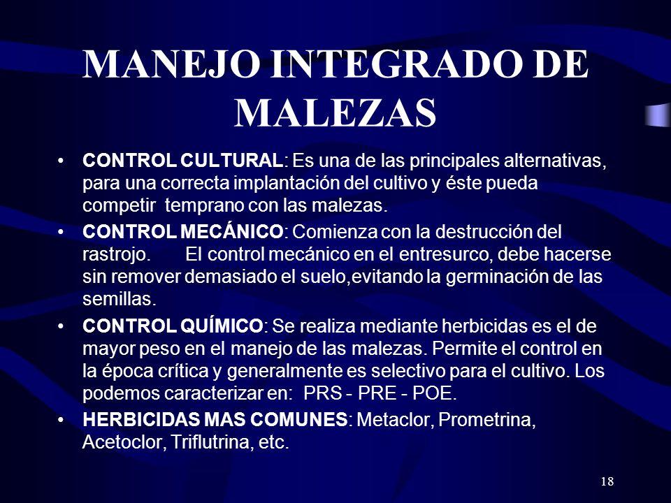 MANEJO INTEGRADO DE MALEZAS