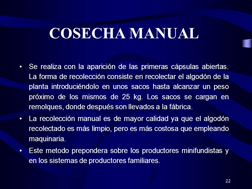 COSECHA MANUAL