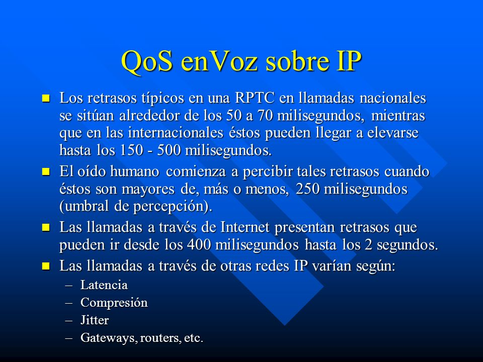 QoS enVoz sobre IP