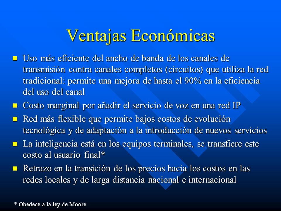 Ventajas Económicas