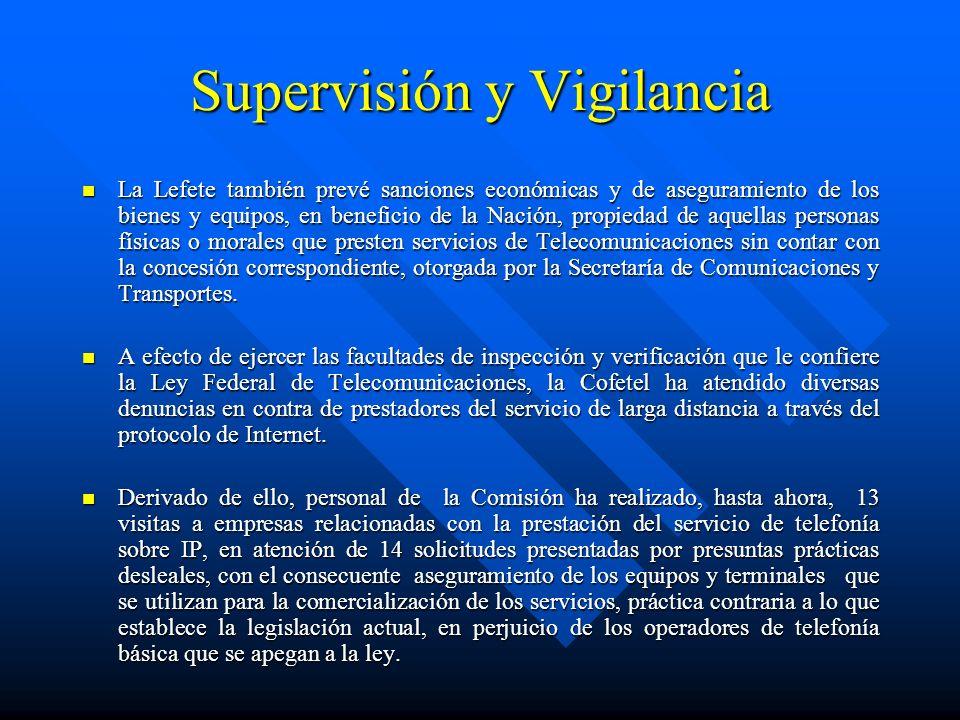 Supervisión y Vigilancia