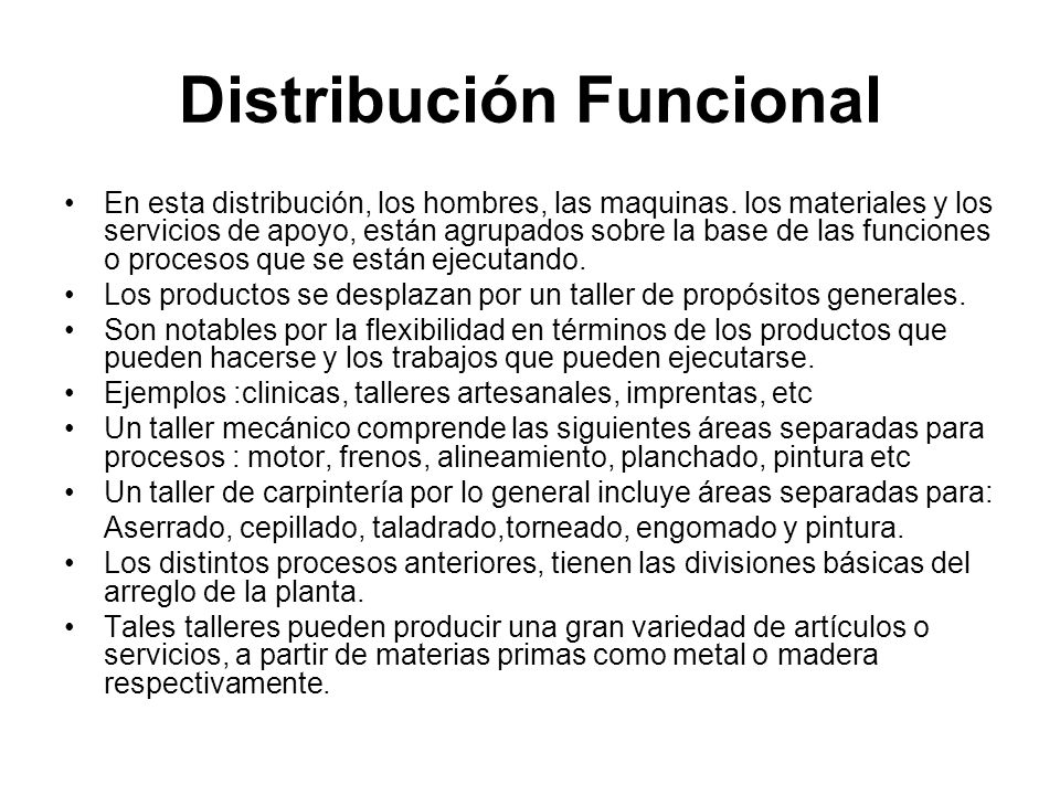 Distribución Funcional