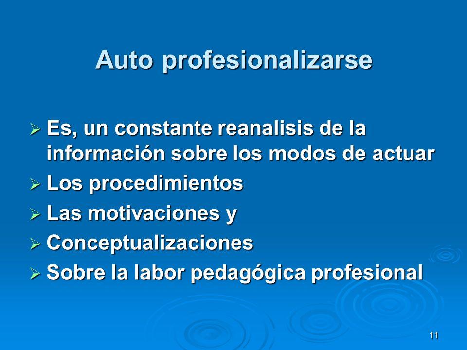 Auto profesionalizarse