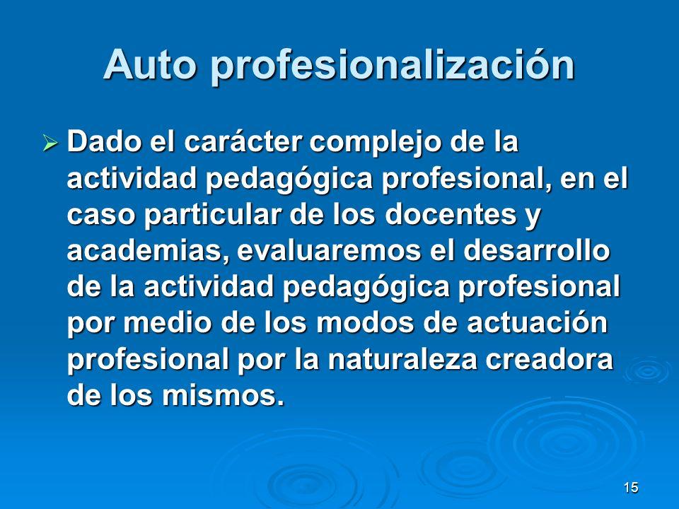 Auto profesionalización
