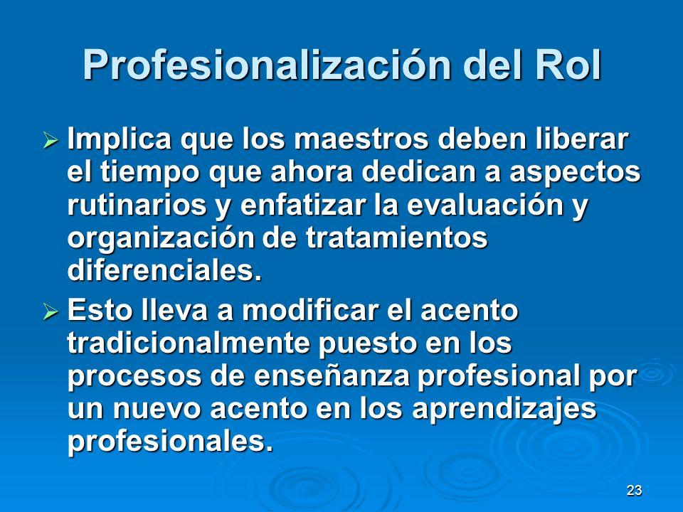 Profesionalización del Rol