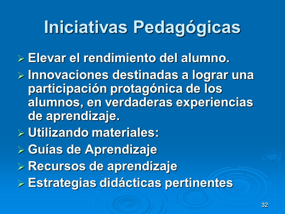 Iniciativas Pedagógicas