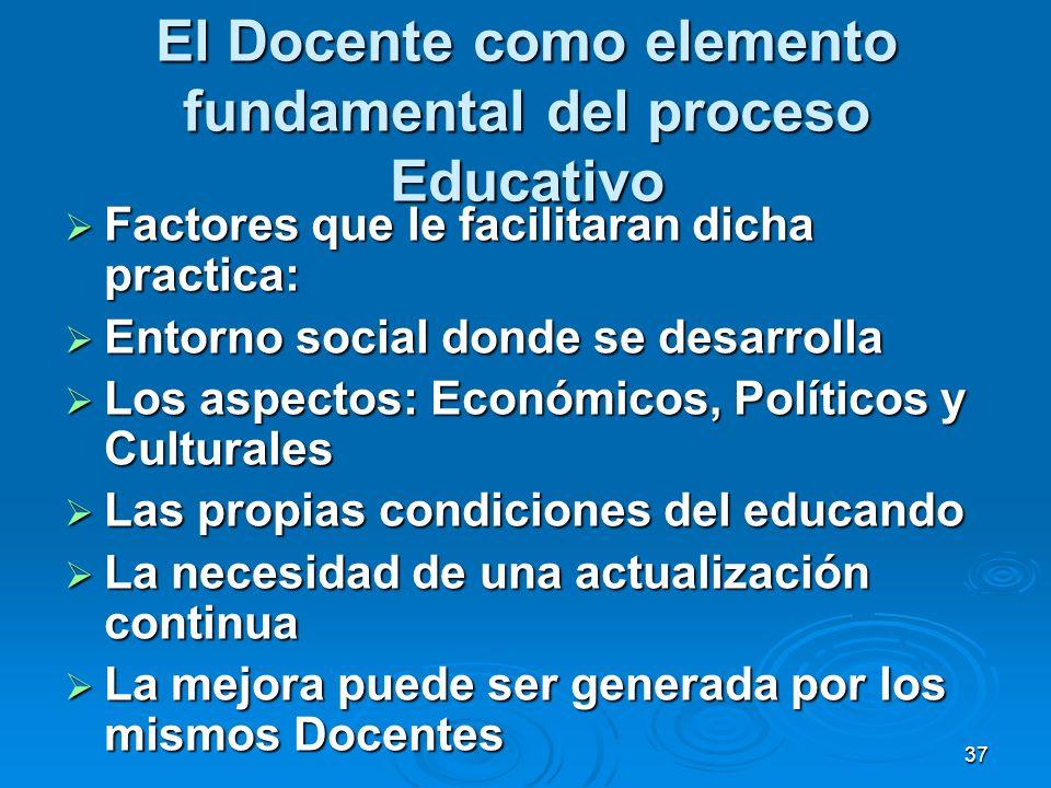 El Docente como elemento fundamental del proceso Educativo