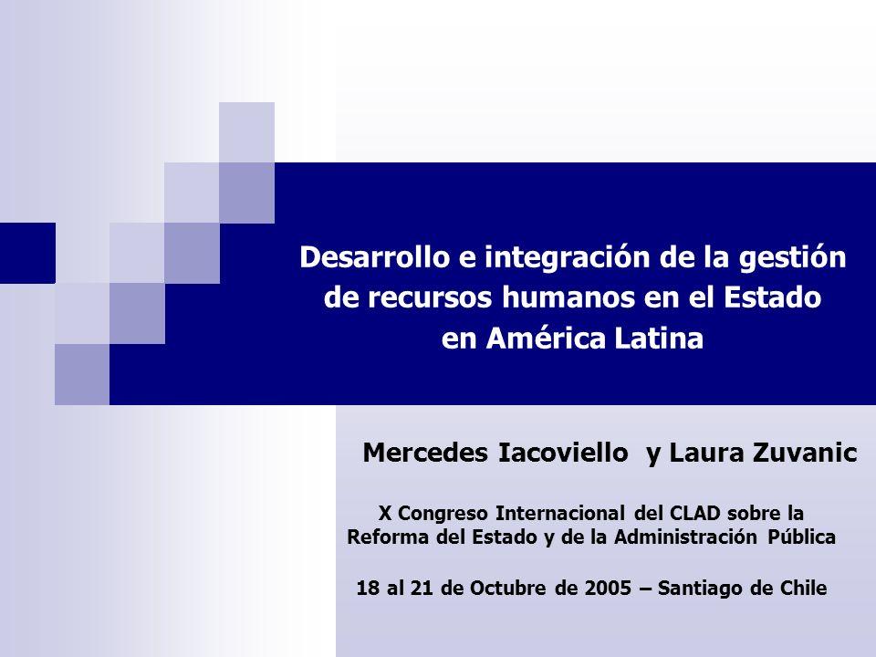 Desarrollo e integración de la gestión de recursos humanos en el Estado en América Latina