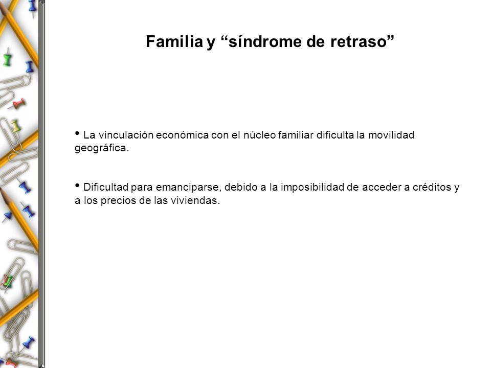 Familia y síndrome de retraso