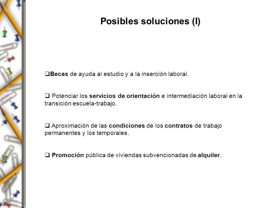 Posibles soluciones (I)