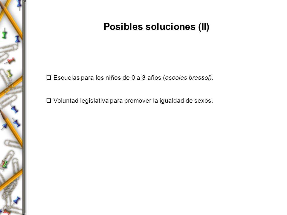 Posibles soluciones (II)