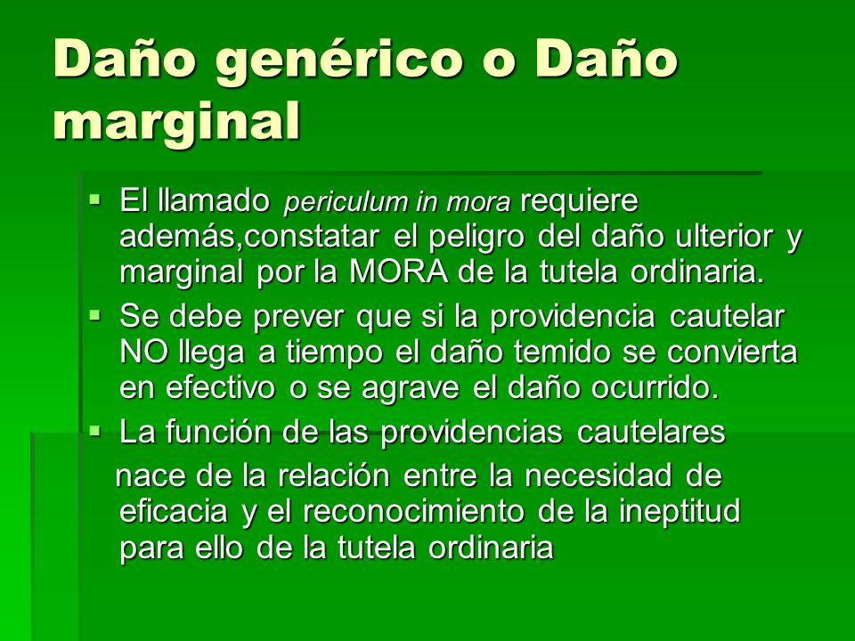 Daño genérico o Daño marginal