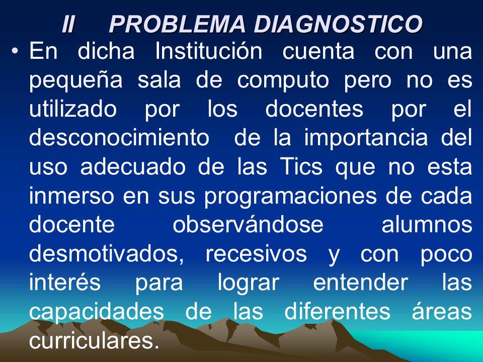 II PROBLEMA DIAGNOSTICO