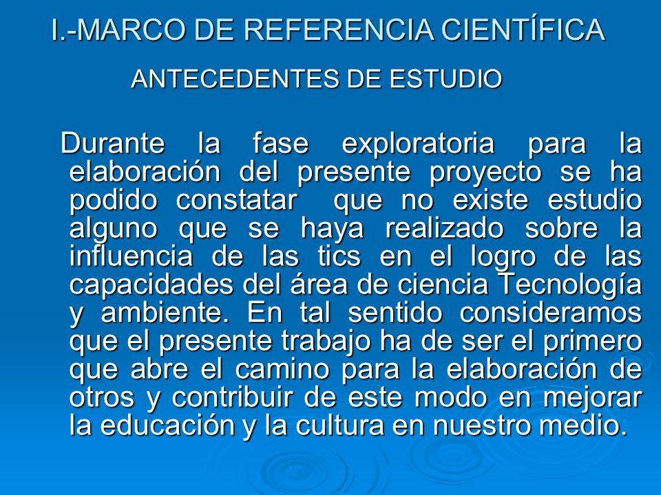 I.-MARCO DE REFERENCIA CIENTÍFICA
