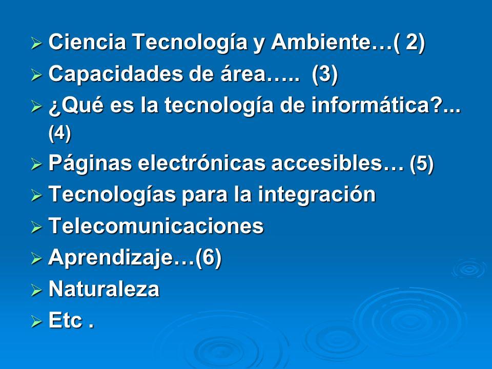Ciencia Tecnología y Ambiente…( 2)
