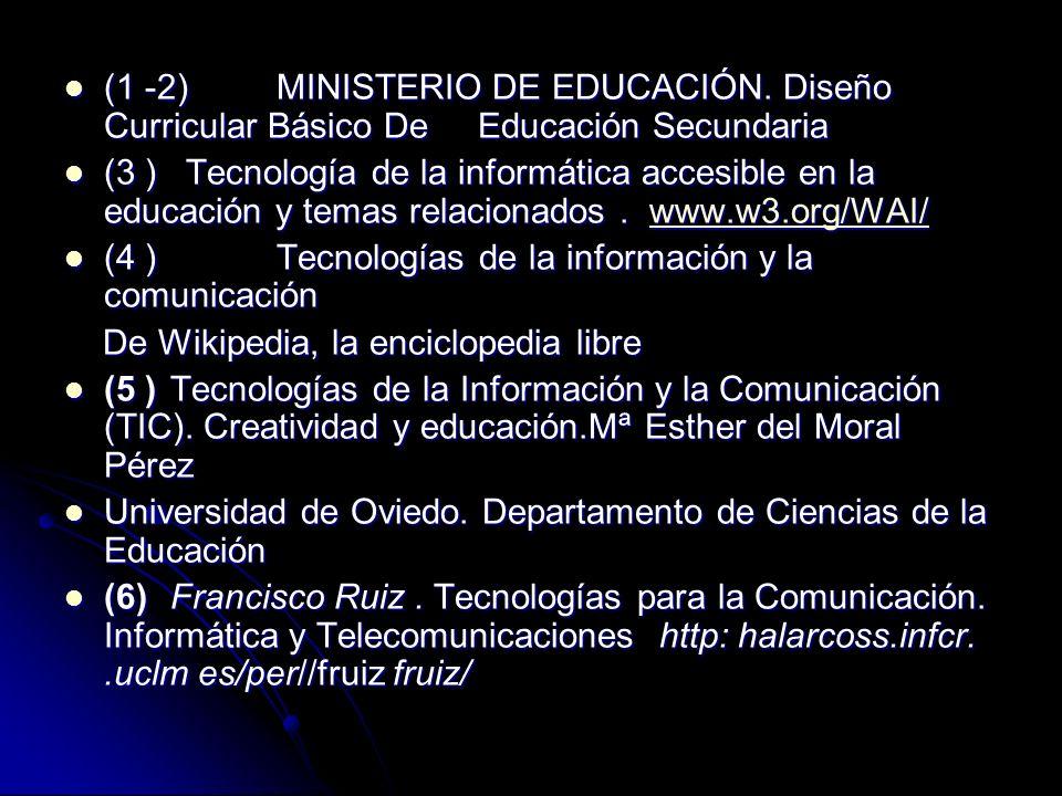 (1 -2). MINISTERIO DE EDUCACIÓN