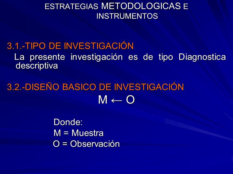 ESTRATEGIAS METODOLOGICAS E INSTRUMENTOS